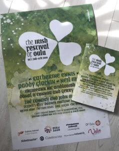 Irish festival of Oulu -julisteet ja käsiohjelmat