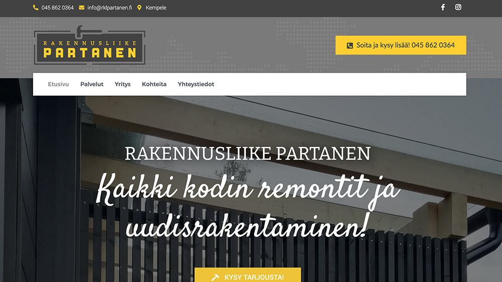 RKL Partanen wp-sivut